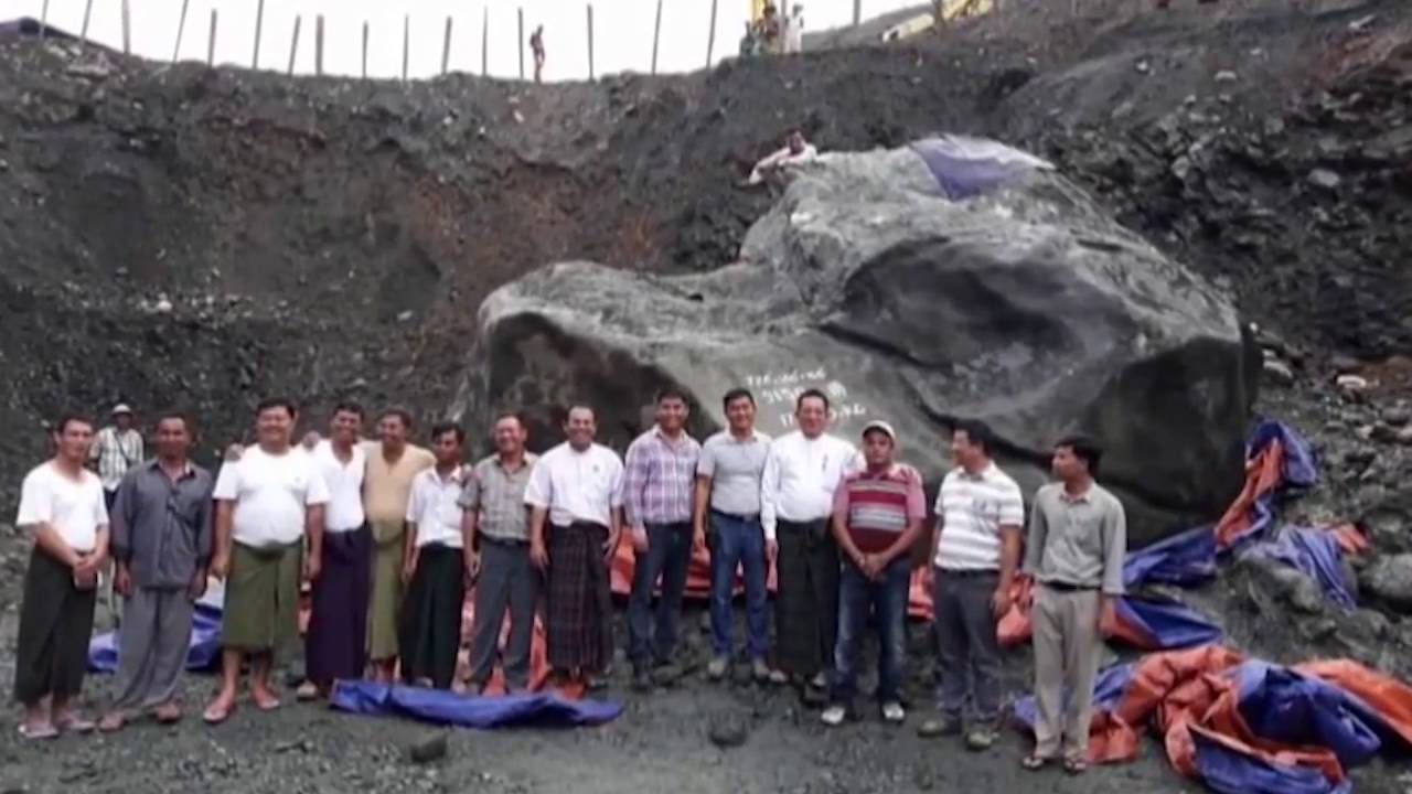Giant Jade Worth 170 Million Found In Myanmar Youtube
