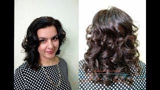 Как сделать локоны утюжком на волосы средней длины