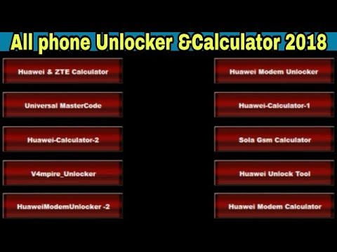 All Phone Calculator and Unlock Tool | Unlock & Read Codes | Huawei | Zte |  Nokia