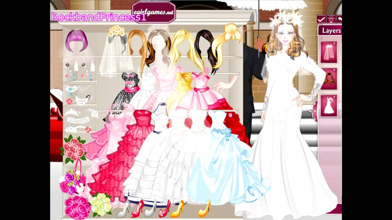 New Wedding Dress Up Games : Barbie dress up games bride game girls