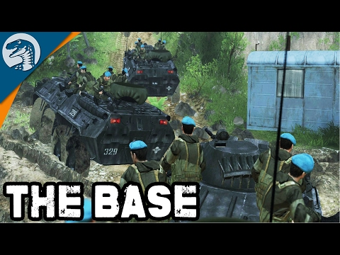 RUSSIAN PATROL LEAVES BASE ON MISSION | BTR-80 | Spintires Multiplayer Gameplay