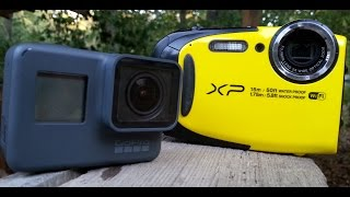 GoPro Hero 5 Black vs Fujifilm XP85 Comparison & Short Review