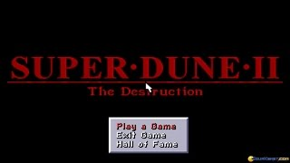 Super Dune 2 gameplay (PC Game, 1994)