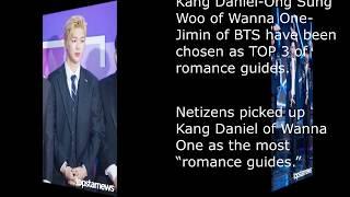 [ENG] Kang Daniel-Ong Sung Woo of Wanna One-Jimin of BTS,  'TOP 3 of romance guides'