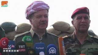 غرفة الأخبارسياسة  بارزاني والحكيم يتفقدان البشمركة في جبل زردك شرق الموصل