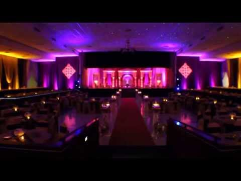 bahia shrine wedding day lighting with indian mandap decor orlando dj