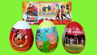 Kinder Surprise Pixar  The Incredibles Peppa Pig One Direction Disney Minnie Mouse Surprise Eggs Thumbnail