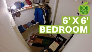 Living A More Simple And Minimalist Life In A 6 X 6 Closet Bedroom Youtube