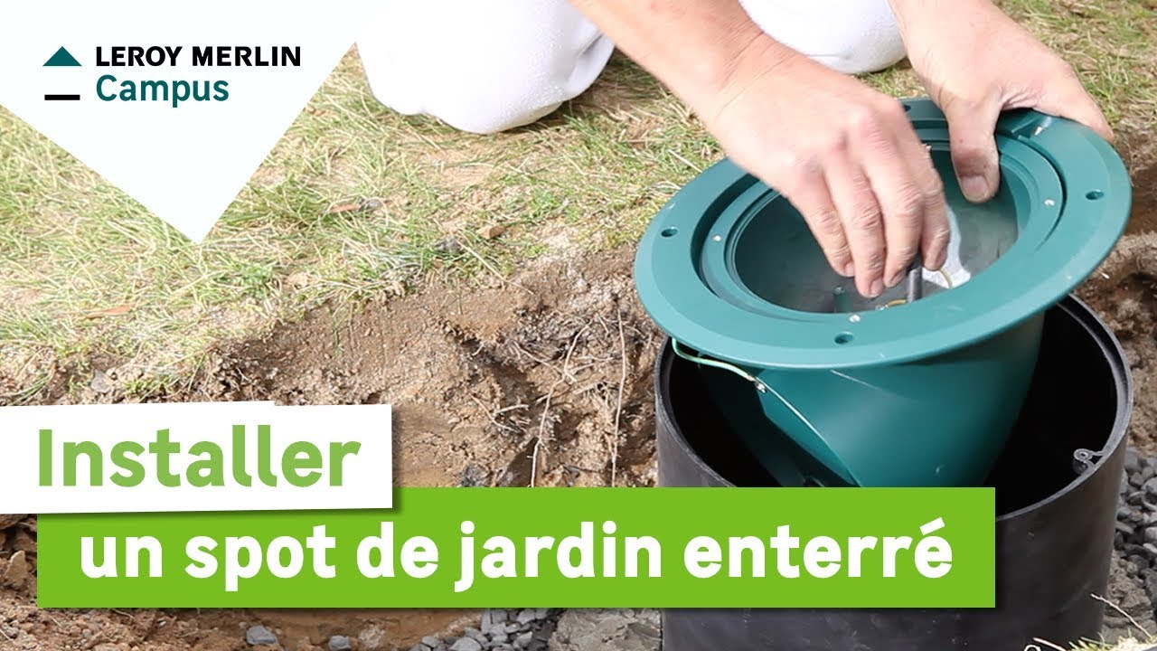 Comment installer un spot de jardin enterré? Leroy Merlin - YouTube
