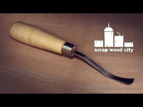 DIY spoon carving gouge from an old file