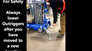 The Rent-It Store & Our Genie 30 FT AWP Man Lift