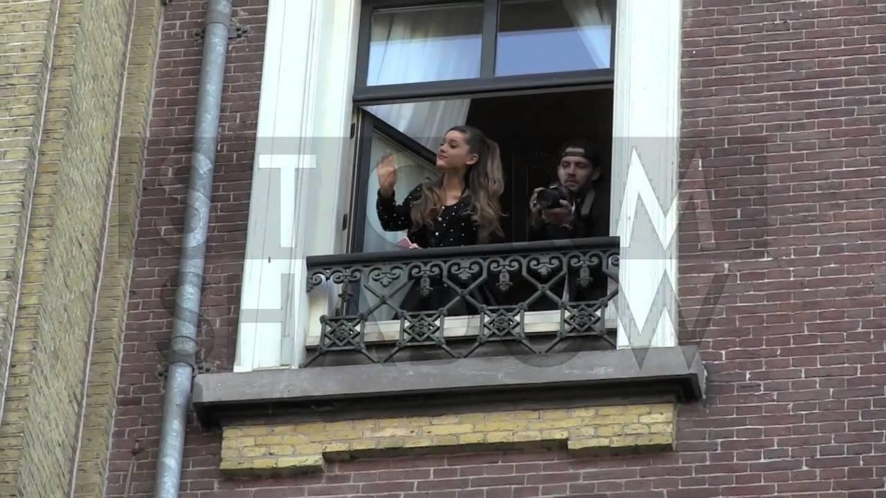 Ariana Grande Creates Madness In Amsterdam When She Shows