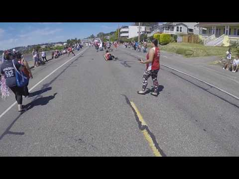Whidbey Island Roller Girls July  4th Parade