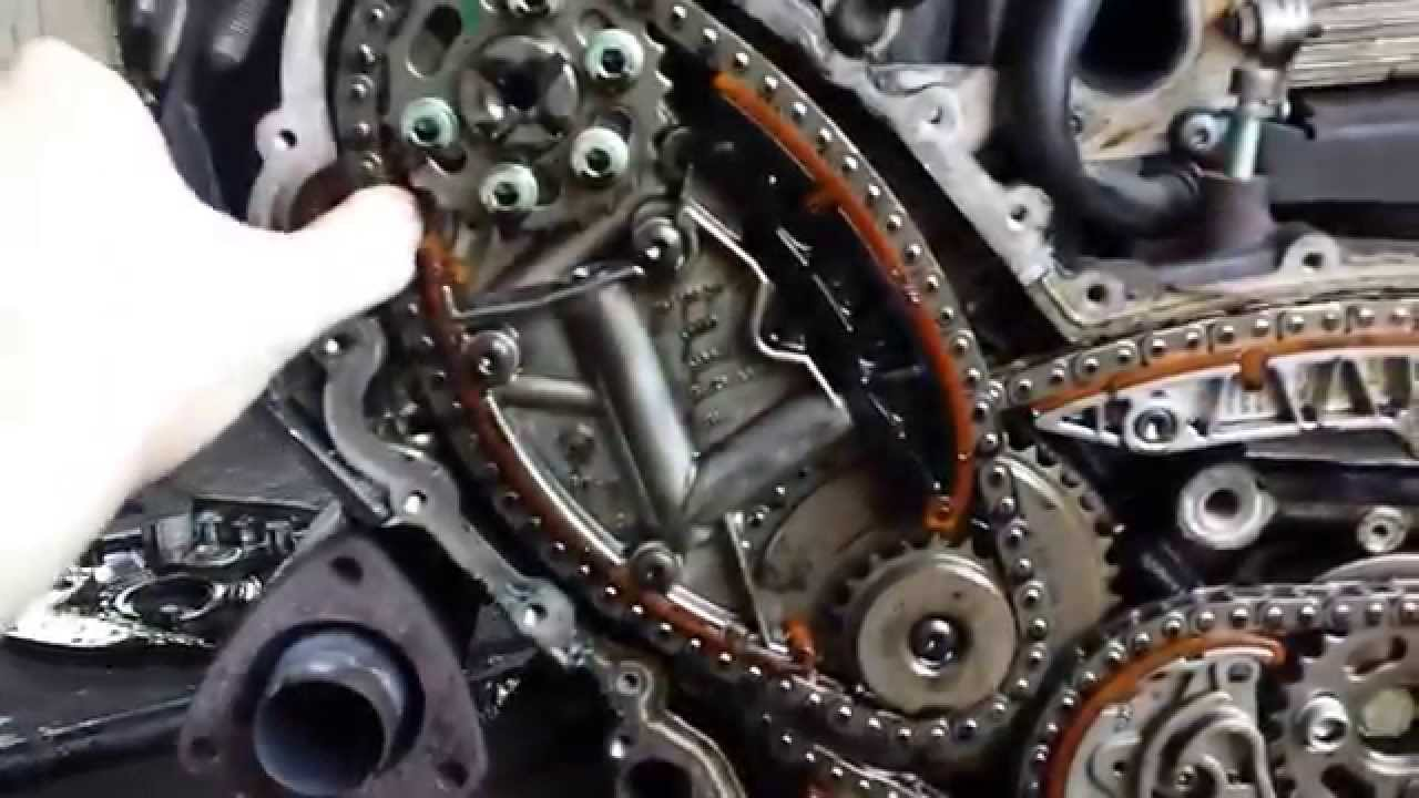 The Timing Chain Rozrząd Łańcuch A6 C6 3 0 Tdi Youtube