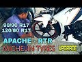 MICHELIN TYRES for Apache RTR   Up-sizing rear tyre   Pro's of MICHELIN (Pilot Sporty)