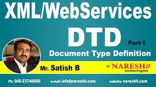 DTD (Document Type Definition) Part-1 | XML Tutorial | Mr. Satish B