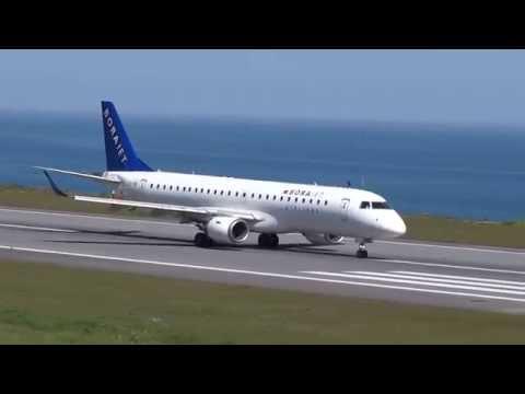 Embraer E190 Borajet TC-YAI Takeoff LTCG Trabzon Airport..