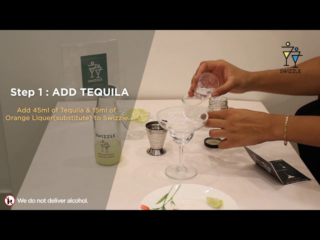 Margarita in 3 easy steps using Swizzle Cocktail Kit | Swizzle | Tequila Cocktail