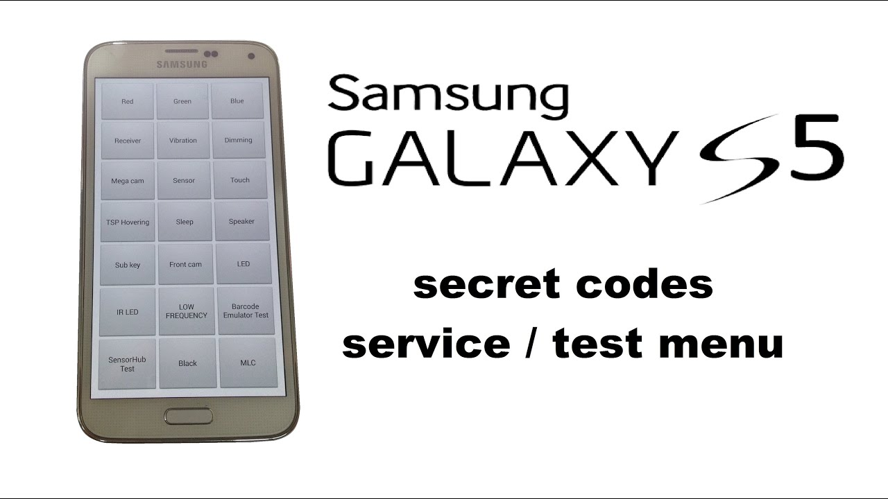 Hidden features service test diagnostic menu secret codes youtube