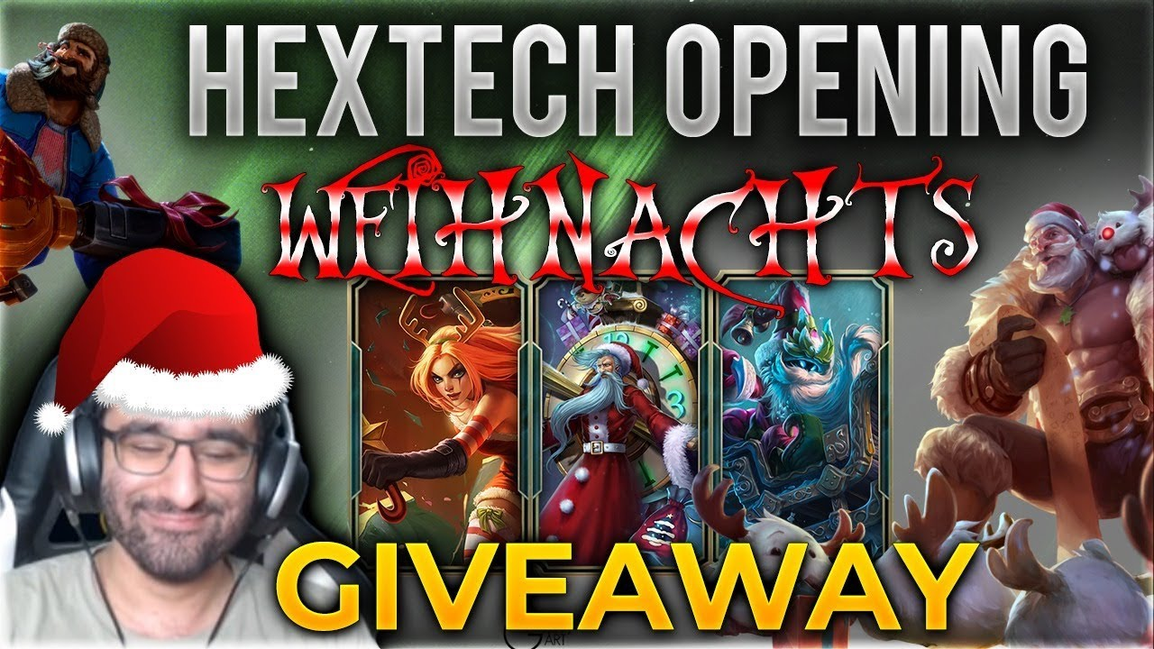 weihnachts hextech opening giveaway league of legends. Black Bedroom Furniture Sets. Home Design Ideas