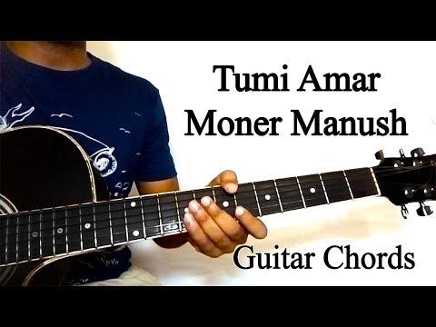 Tumi Amar Moner Manush   Guitar Tutorial
