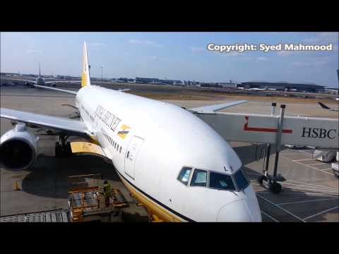 Royal Brunei Airlines Plane in Heathrow Airport London SYED's Tourism