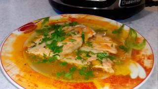 Суп из ХРЕБТА  красной рыбы!!!В мультиварке!