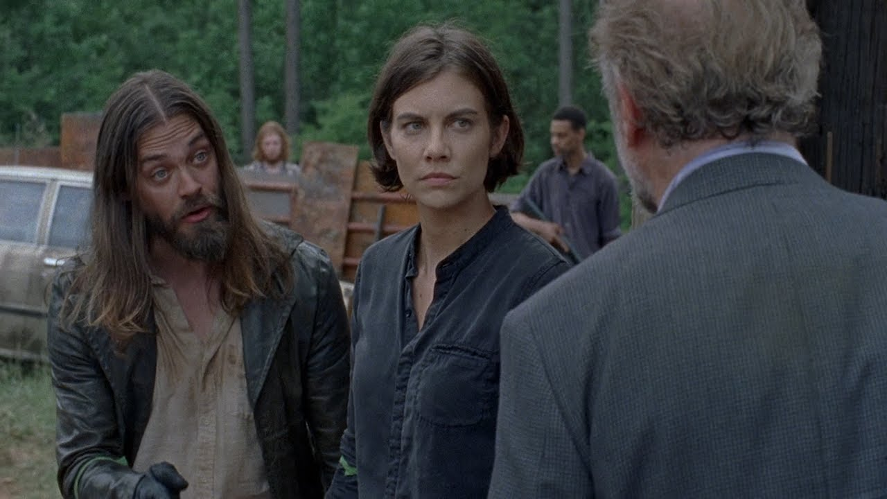 Download TWD S8E3 - Gregory and the captive Saviors arrive at the Hilltop