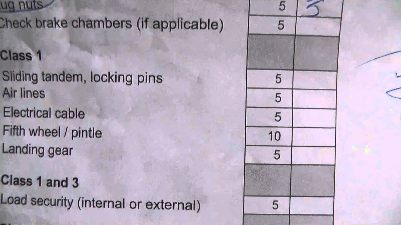cdl pre trip inspection diagram coil pack wiring alberta class 1 and 3 form youtube