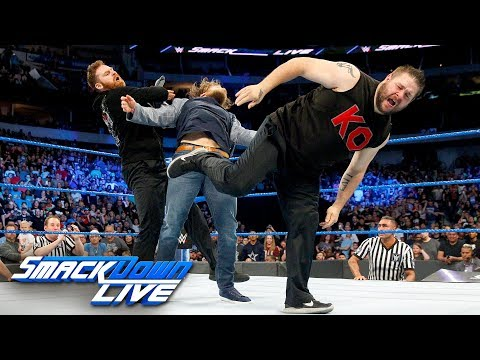 Kevin Owens and Sami Zayn unleash a brutal assault on Daniel Bryan: SmackDown LIVE, March 20, 2018