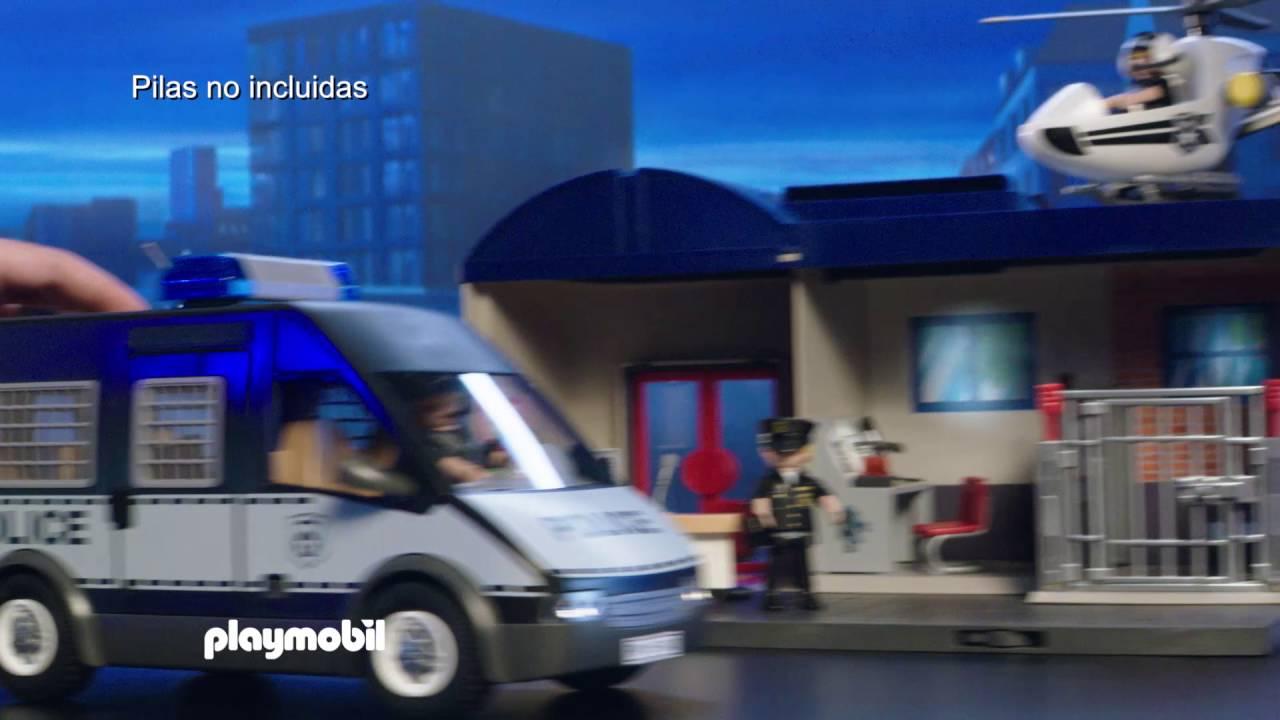 Maletínespañol – FurgónHelicóptero Playmobil Y Policía Comisaría De TlFJKc1