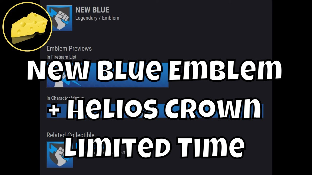 Free New Blue Emblem and Helios Crown Limited Time