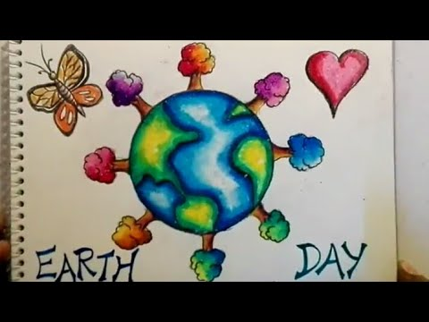 Earth Day Drawing For Kids Save Earth Save Environment Drawing