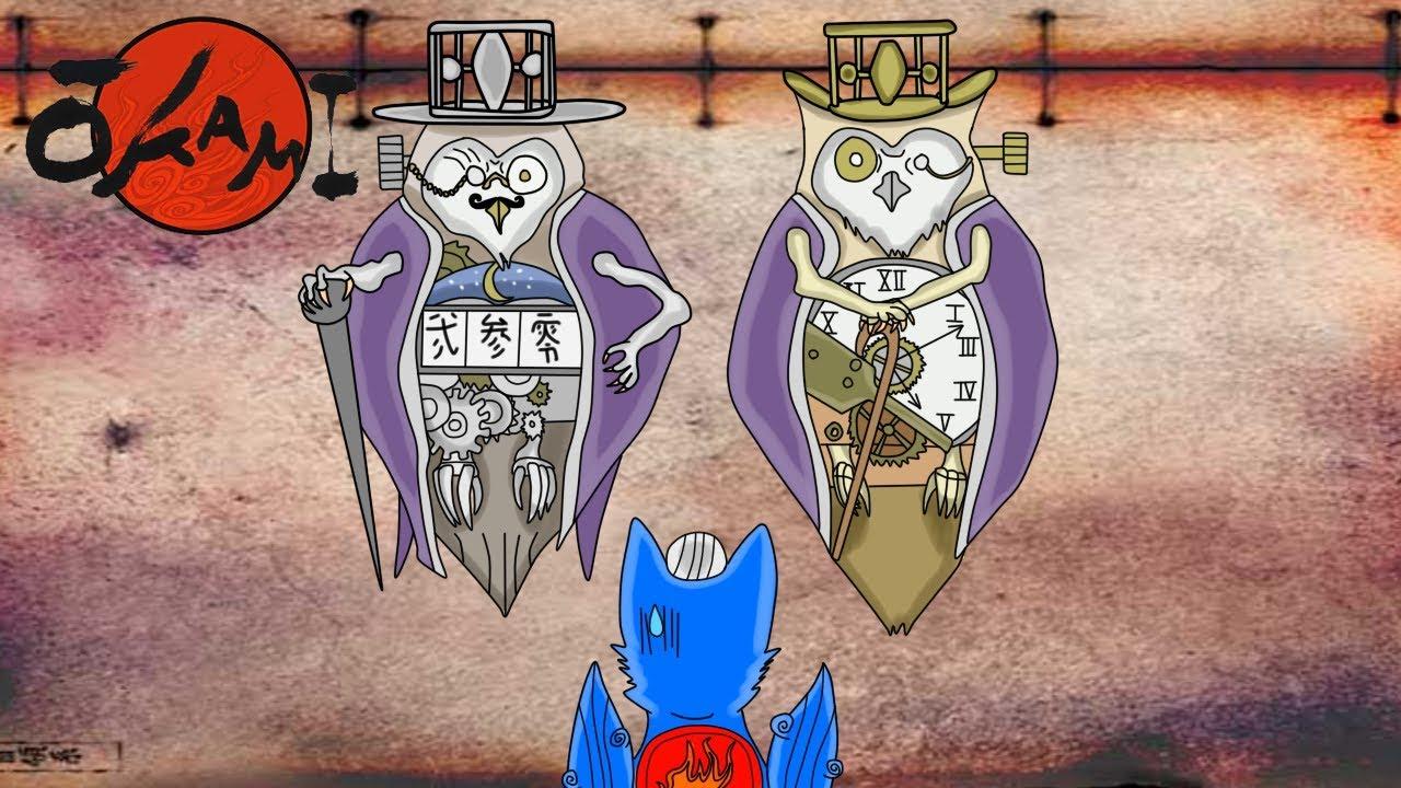 okami hd part 13 fighting some fancy owls youtube