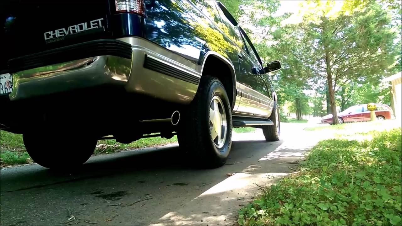 medium resolution of 1999 chevy suburban exhaust comparison cherry bomb vortex