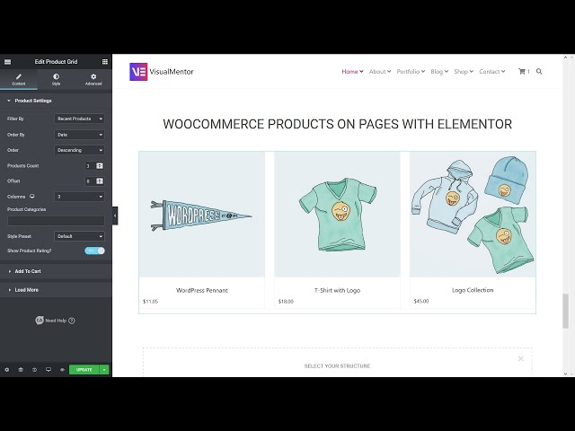 Add WooCommerce Products In Pages With Elementor WordPress Plugin