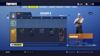 SEASON 5 BATTLE PASS! | ALL NEW SKINS AND ITEMS | TIER 100 SKIN | FORTNITE BATTLE ROYALE
