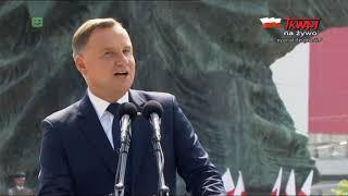 Przemówienie prezydenta Andrzeja Dudy w Katowicach z okazji Święta Wojska Polskiego