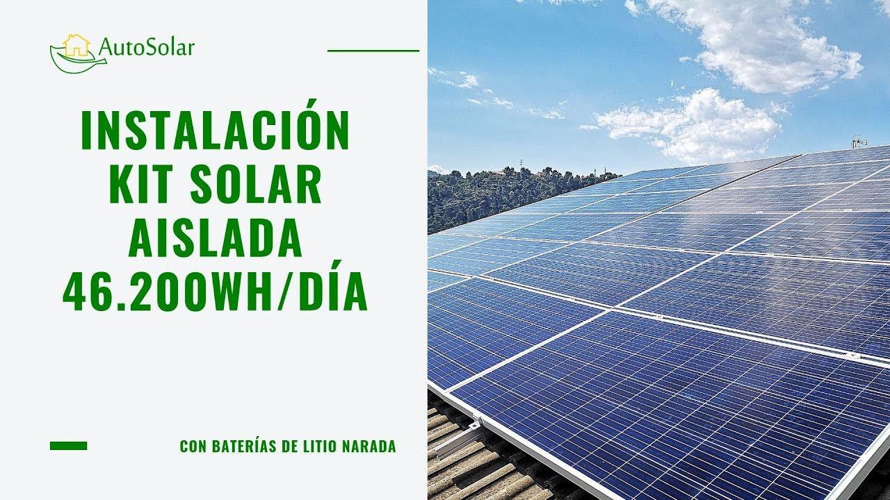 Instalacion Solar Vivienda Aislada 46 200wh Dia Youtube