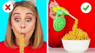 KIAT PINTAR UNTUK PARA PEMALAS || Kiat Makanan Lucu dan Trik TikTok Mudah oleh 123 GO! FOOD