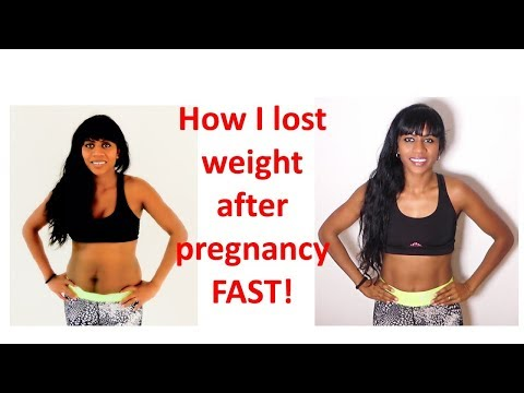 How I lost weight FAST after pregnancy* In Hindi
