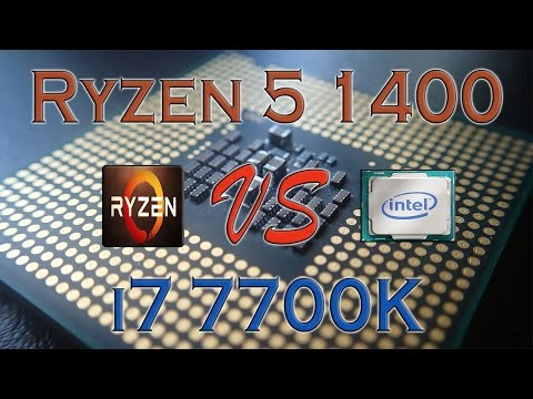 RYZEN 5 1400 Vs I7 7700K - BENCHMARKS / GAMING TESTS REVIEW AND COMPARISON / Ryzen Vs Kaby Lake