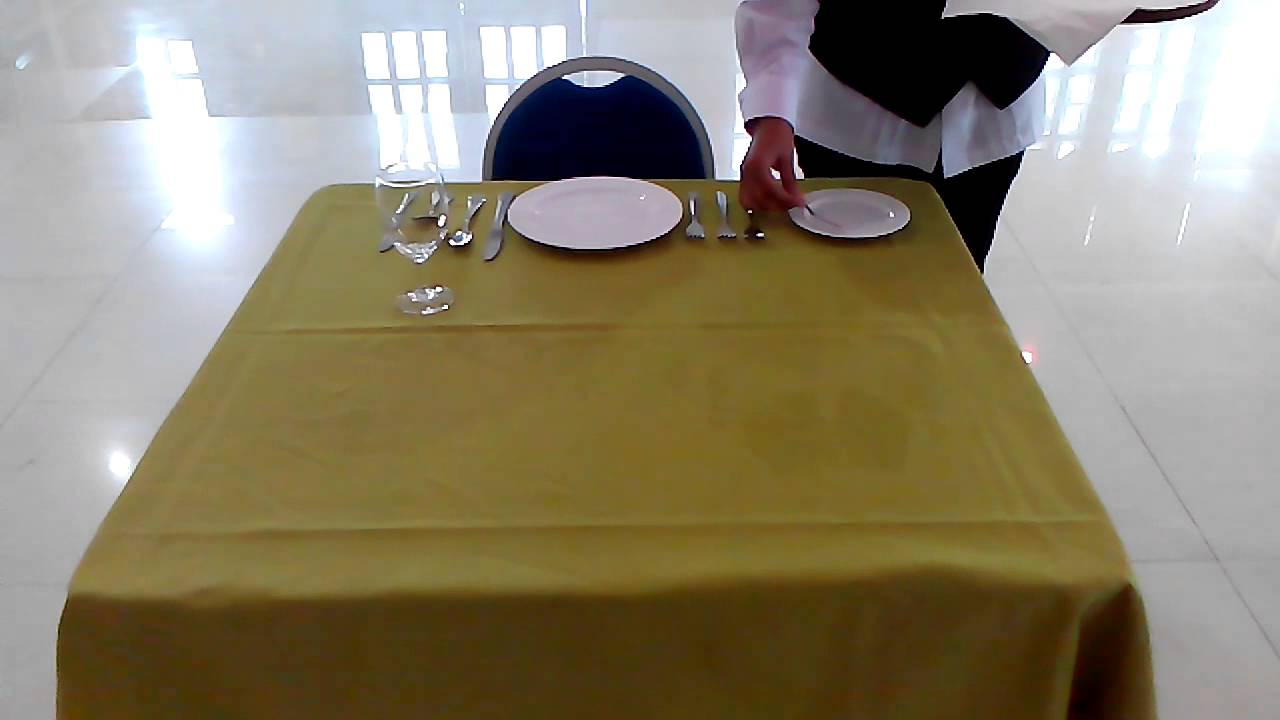 BASIC TABLE SETTING (DHK3A) - YouTube