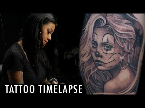Tattoo Timelapse - Elvia Guadian