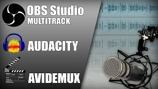 Audioqualität verbessern | OBS Multitrack Audio Recording | Audacity - Avidemux | Tutorial Deutsch thumbnail