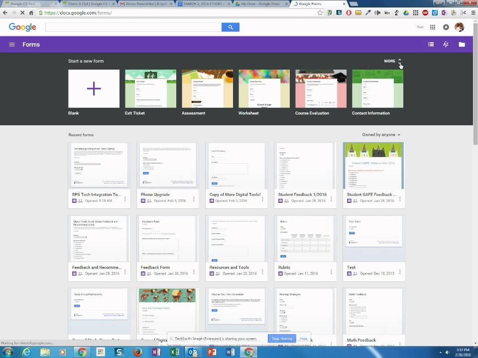 Templates in Google Forms - YouTube