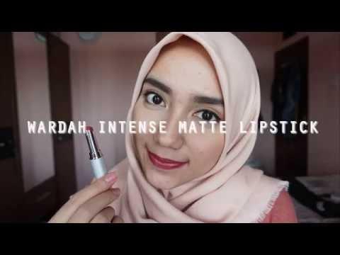 wardah-intense-matte-lipstick-swatches-||-milaramadiana