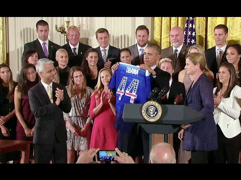 The President Honors the U.S. Women's National Soccer Team