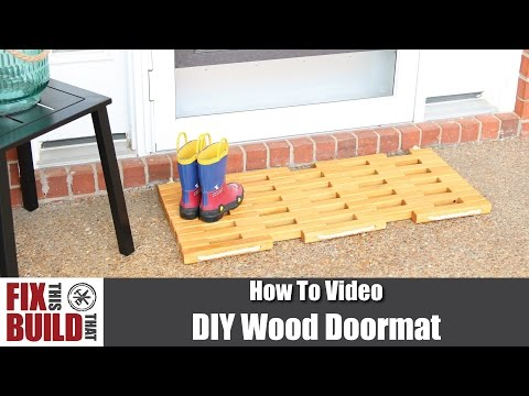 DIY Wood Doormat | How to Make
