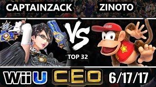 CEO 2017 Smash 4 - P1 | Captain Zack (Bayonetta) vs EG | Zinoto (Diddy Kong) Wii U Top 32